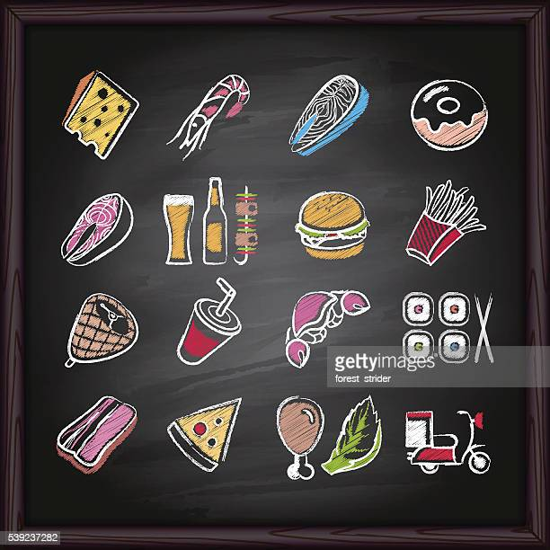 Food_Deliver_icons_on_chalkboard