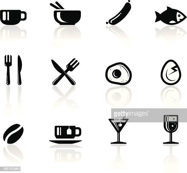 Foods icon set