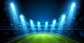 Football Arena. Stadium Public Buildings. Vector illustration