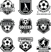 Set of sports glyh badges.