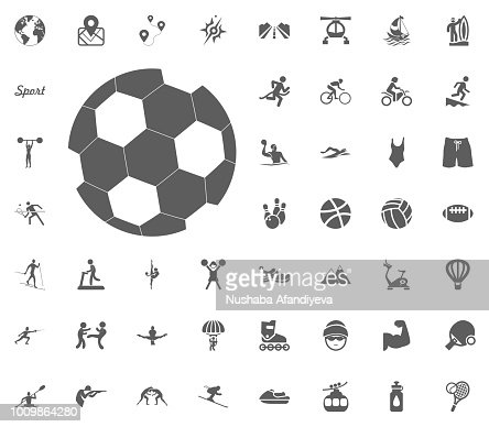 Icone De Ballon De Football Icone Du Football Vector Illustration