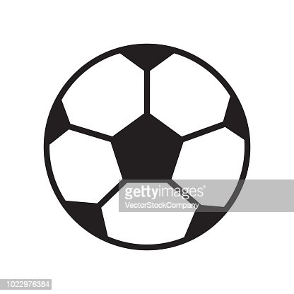 Football Ballon Icone Vector Signe Et Le Symbole Isole Sur Fond