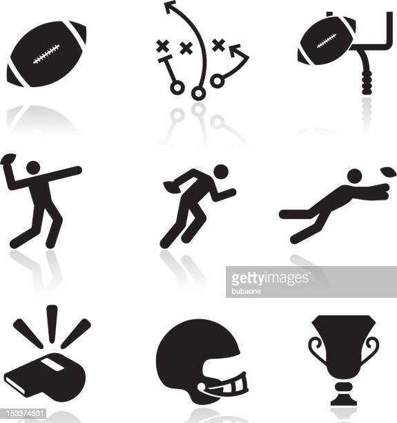 Football black and white royalty free vector arts