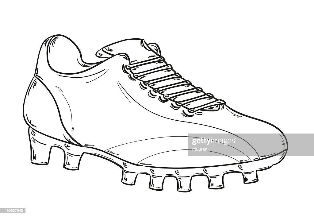 coloriage de chaussure de foot adidas