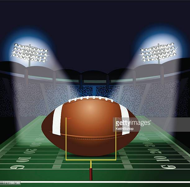 Football Stadium Lights End Table: Sports Event Stock Illustrations And Cartoons
