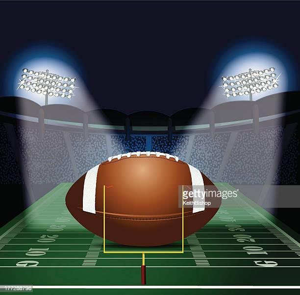 Stadium Lights Svg: End Zone Stock Illustrations And Cartoons