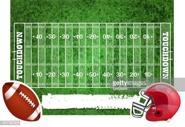 Illustrations et dessins anim s de terrain de football am ricain getty images - Dessin football americain ...