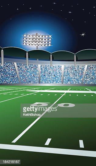 Football Fifty Yard Line Background : Vector Art
