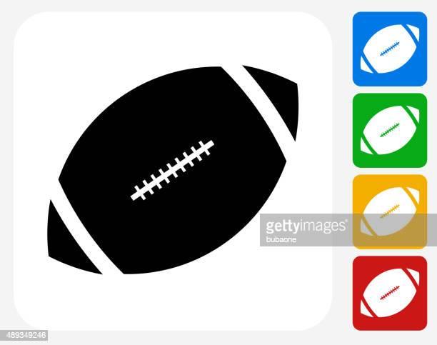 Football Icon Flat Graphic Design
