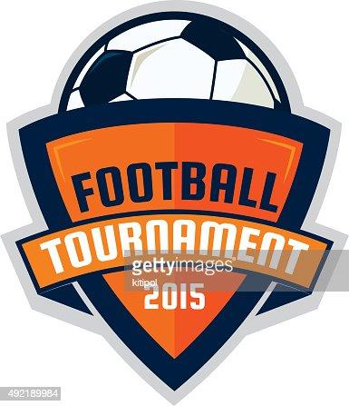 football logo design soccer shield vector illustration