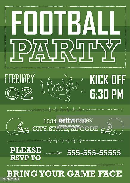Safety American Football Player Illustrations And Cartoons – Football Party Invite