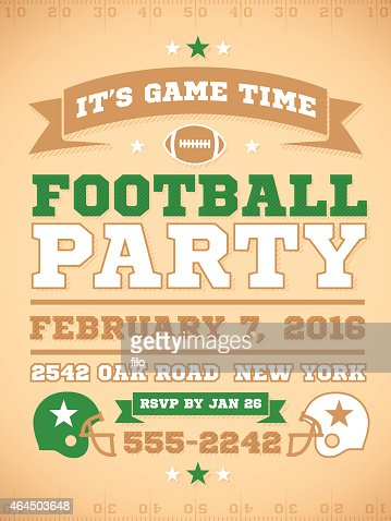 football party invite vector art getty images
