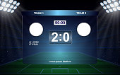 football scoreboard broadcast graphic soccer template