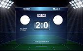 football scoreboard broadcast graphic soccer template