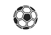 Football soccer ball icon isolated on white background. Vector illustration.