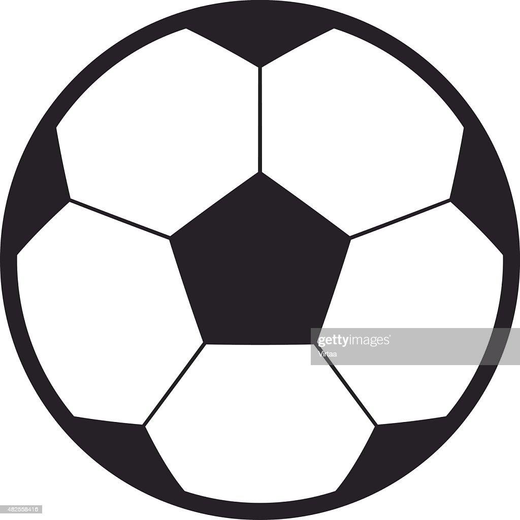 football soccer ball vector icon modern minimal flat design style rh thinkstockphotos com Soccer Ball Silhouette Soccer Logos Clip Art