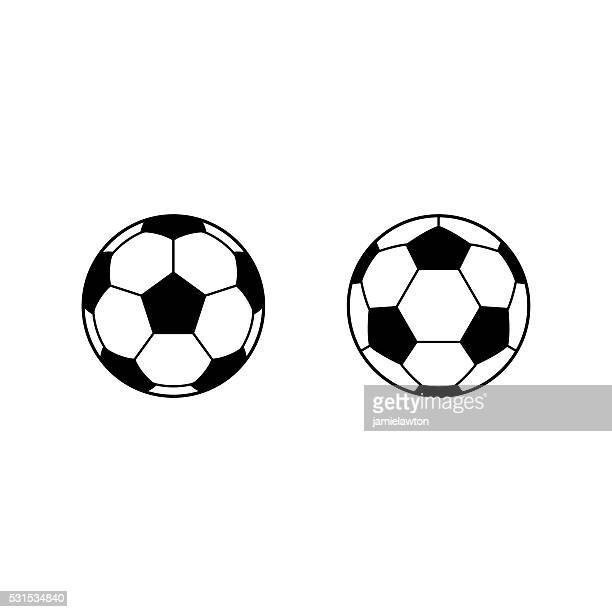 Football, Soccer ball vector icons