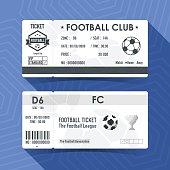 Football, Soccer Ticket Design. Vector illustration.