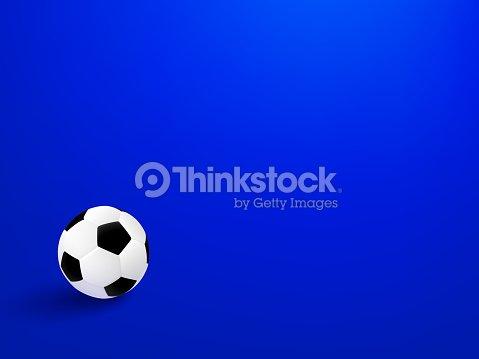football sport poster design black and white soccer ball on blue