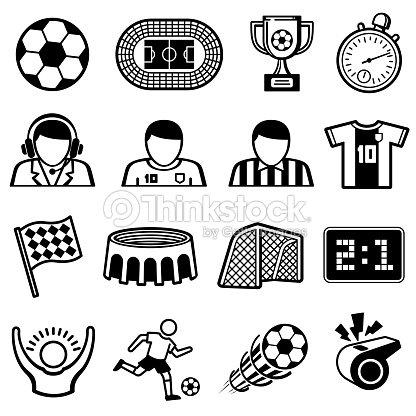 Football Sports Vector Icons Soccer Team Symbols Vector Art Thinkstock