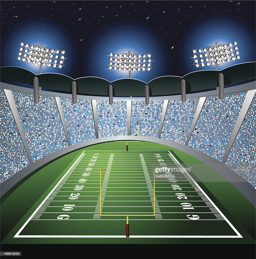 Stadium Of Lights: Football Stadium Background Vector Art