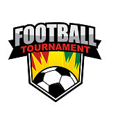 Football tournament icon design template
