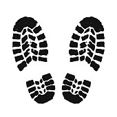 Footprint human silhouette – stock vector
