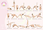 General set of exercises common exercise program yoga complex for beginners, - 1 day