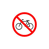 Forbidden bcycle icon can be used for web, logo, mobile app, UI, UX