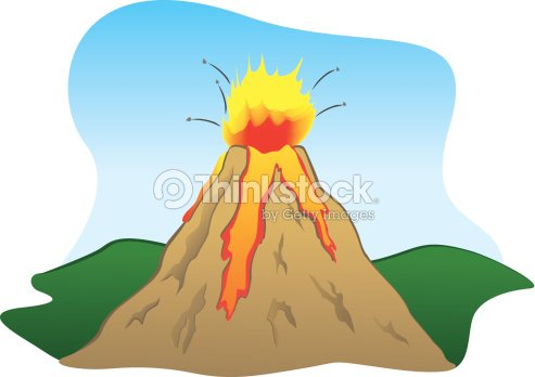 Force of nature a volcano erupting vector art thinkstock - Imagenes con animacion ...