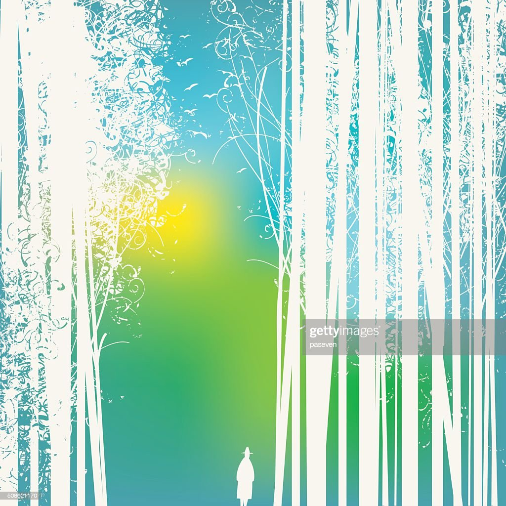 forest and road : Vector Art