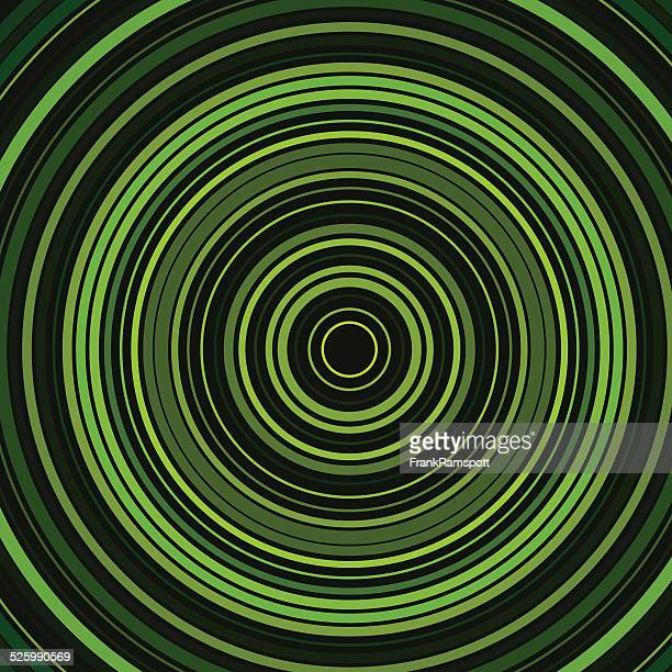 Forest Concentric Circle Abstract Pattern