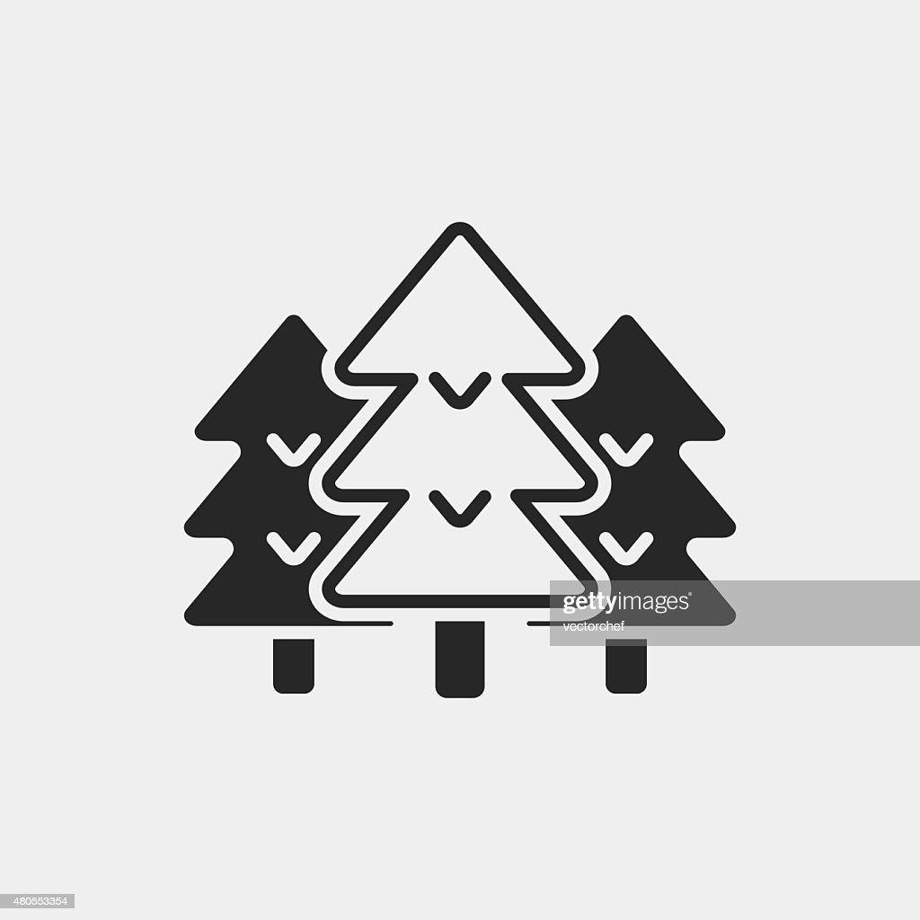 forest icon : Vector Art