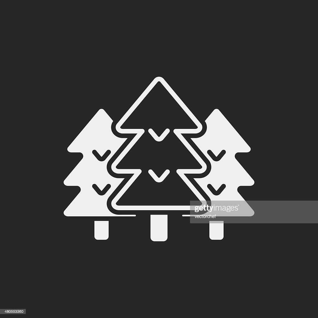 Ícone de floresta : Arte vetorial