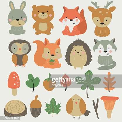 forestsmallanimalset : Vector Art