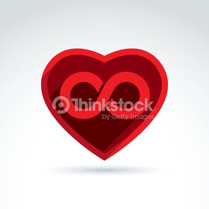 Forever Love Concept With Heart And Infinity Symbol Vector Vector