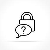 Illustration of forgot password icon on white background