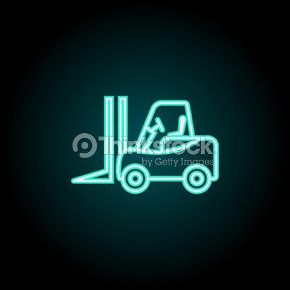 Forklift Icon Elements Of Logistics In Neon Style Icons Simple Icon