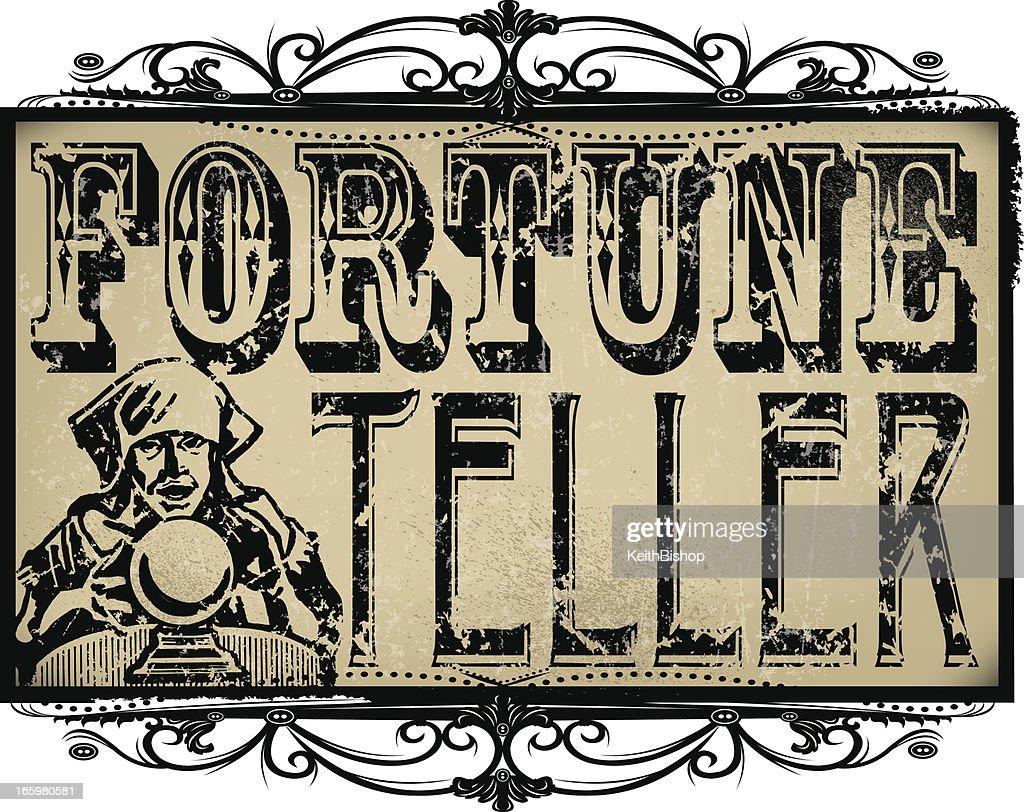 Fortune Teller Sign : Vector Art