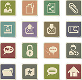 forum interface web icons - paper stickers for user interface design