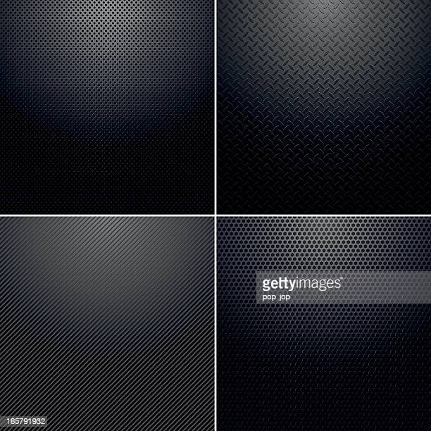 Four different back metallic backgrounds