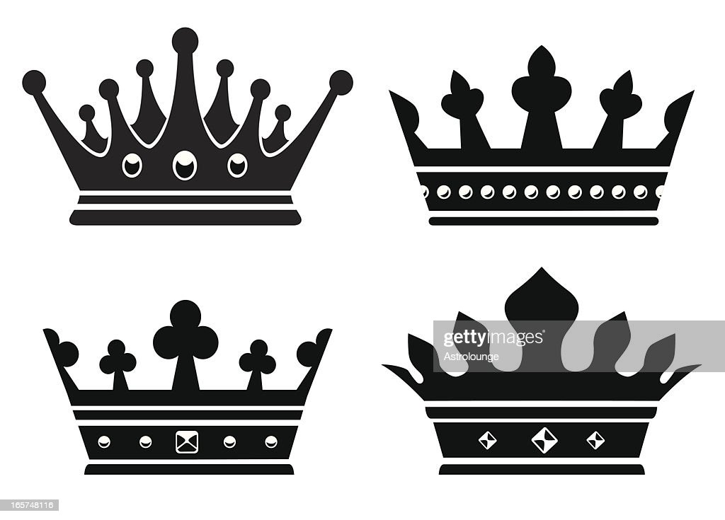 Four Different British Crowns For A King Vector Art ...