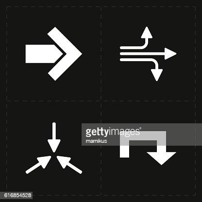 four flat modern arrows : Vector Art