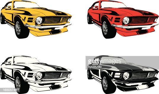 Vector Mustang Muscle Car Vector Art Getty Images