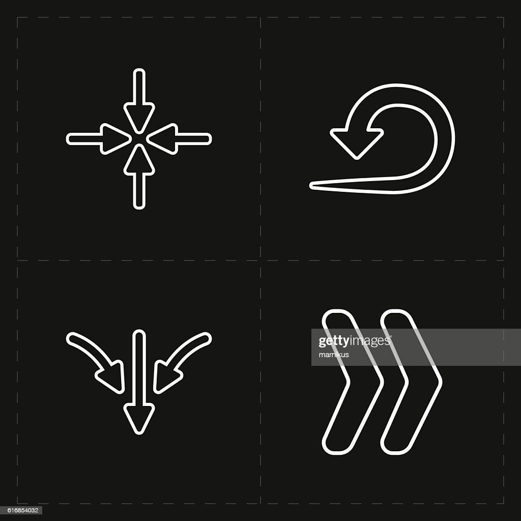 four new simple arrows : Vector Art