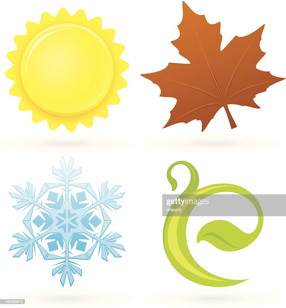 Four season icons : Vector Art
