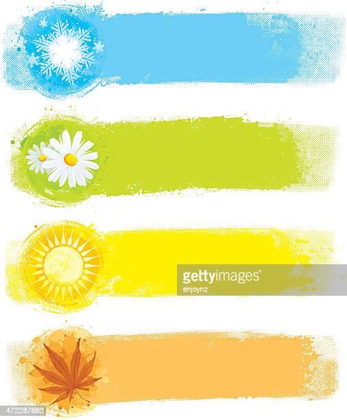 Quatre bâtonnets de peinture de saison