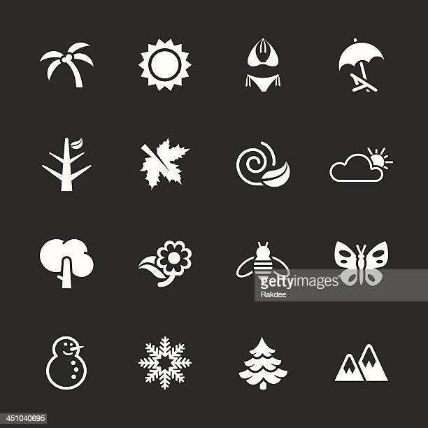 Four Seasons/série d'icônes-Blanc EPS10