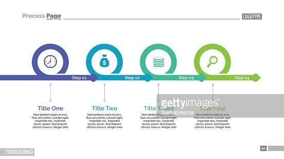 Four Steps Timeline Slide Template : stock vector