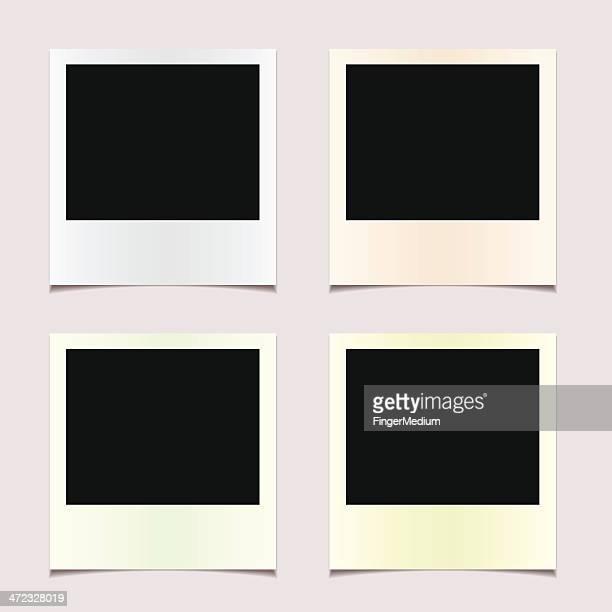 Four undeveloped Polaroid photos